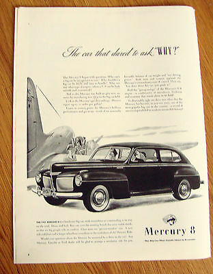 """1941 Mercury 8 Ad The Car That Dared to Ask """"WHY?"""""""