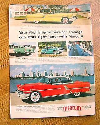 1955 Mercury Montclair Coupe Convertible Ad 1955 Movie Ad The Seven Little Foys