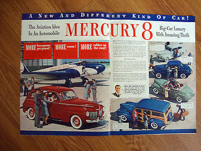 1941 Mercury 8 Ad Sedan Coupe Club Convertible Wagon 1941 Plymouth Ad