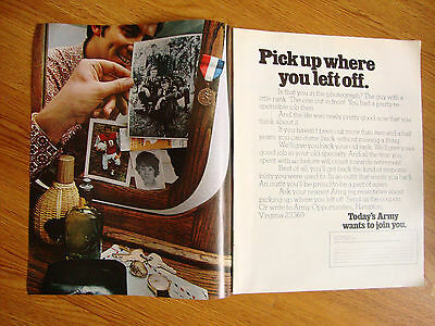 1971 Army Recruiting Ad Pickup where you left off