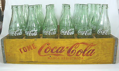 Vintage Wooden Coca-Cola Crate complete with (24) Glass bottles! Intl Yes!