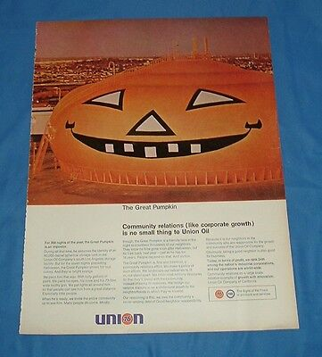 1968 Union 76 The Great Pumpkin Painted Storage Tank Los Angeles Community ad