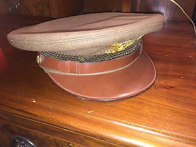 Wwii (World War Ii)? Lieutenant Hat Color:green   (Beautiful Condition)