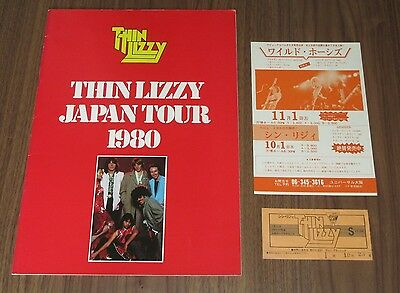 With PROMO flyer & TICKET stub! THIN LIZZY 1980 JAPAN TOUR BOOK more listed!