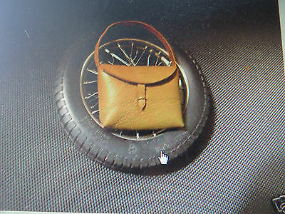 Pocher 1/8 Alfa Romeo 8C Vintage Leather Bag Pouch For Monza Touring Muletto