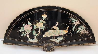 Vintage Chinese Lacquer, Mother of Pearl, Shell, Display Piece. Large