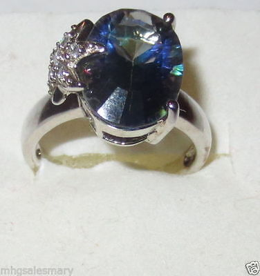 Blue Mystic Topaz ring in Sterling Silver size 8