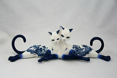 Tail of Two Lovers Porcelain Cat Purr-fect Breeze Hamilton Collection Figurine