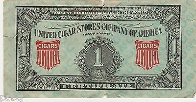 United Cigar Stores Company Of America 1 Certificate