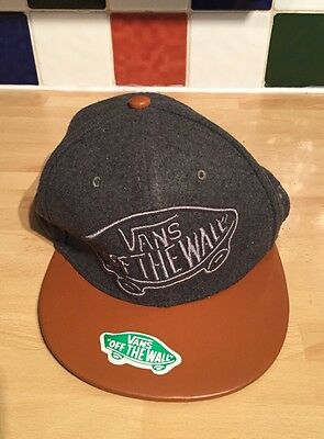 New Era 59FIFTY VANS OFF THE WALL Brown Leather Look