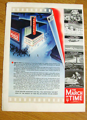 1938 The March of Time Movie Ad