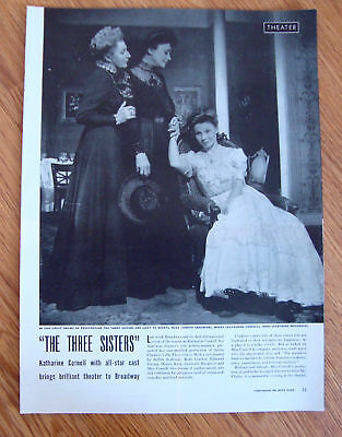 1943 Theater Ad  The Three Sisters Katharine Cornell