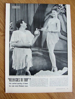 1944 Theater Ad Helen Goes To Troy Horne & Corday