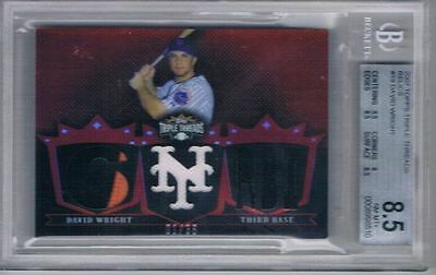 2007 Topps Triple Threads Relics #19 David Wright #1/36 graded 8.5 by beckett