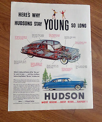 1950 Hudson Commodore Ad  Here's Why Hudsons Stay Young So Long