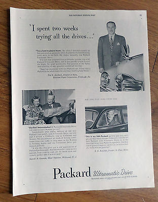 1950 Packard Ad Averback Pittsburgh Gorman Wildwood NJ Ronickere St Paul MN