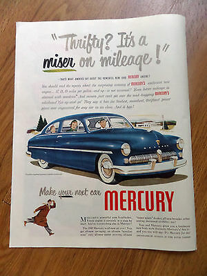 1949 Mercury Coupe Ad Thrifty? It's A Miser on Mileage