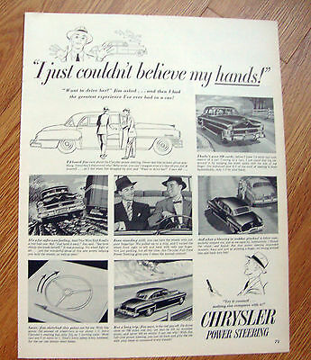 1952 Chrysler AD  Power Steering Couldn't Believe