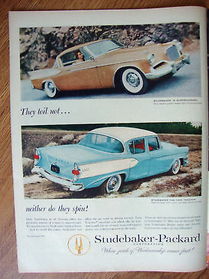 1957 Studebaker Ad    Supercharged