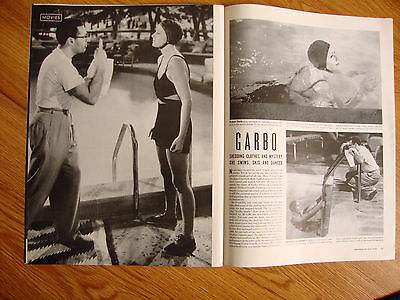 1941 Movies Photo Article Ad GARBO