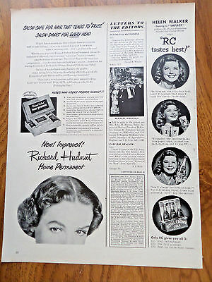 1949 RC Royal Crown Cola Ad Movie StarHelen Walker