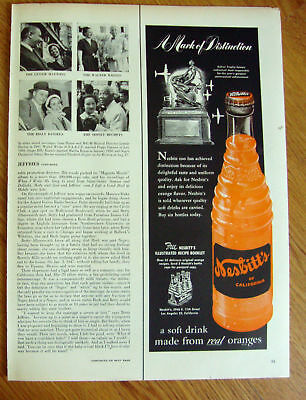 1951 Nesbitt's California Orange Soda Ad Collier Trophy