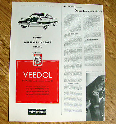 1952 Veedol Motor Oil Ad Special Sport Coupe  by Arbib