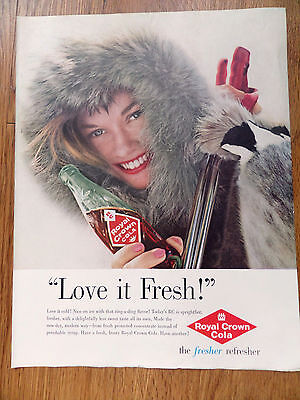 1960  RC Royal Crown Cola Ad  Skiing Theme