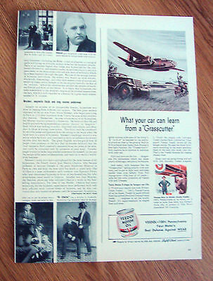 1941 Veedol Motor Oil Ad U. S. Army's A-20-A Grasscutter Bomber