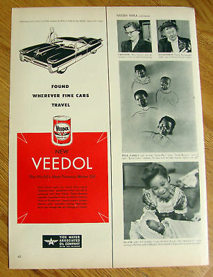 1951 Veedol Motor Oil Ad 3 Place Convertible  by Arbib