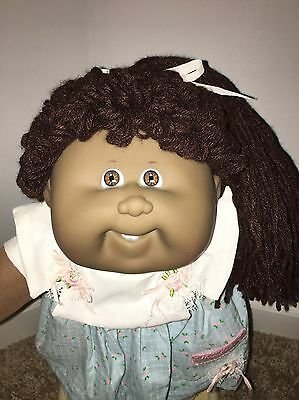 African American AA Cabbage Patch Kids Doll MINT HM19 Single Pony Poodle Girl