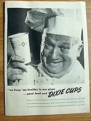 1945 Dixie Cups Ad   Chef