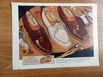 1956 Jarman Shoes Ad  Portraits in Leather    Jarman Leisuals