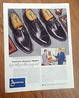 1955 Jarman Shoes for Men Ad  Correct Jarman Styles