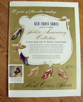 1941 Ad Red Cross Shoes Golden Anniversary