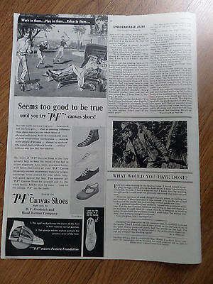 1949 P-F Canvas Shoes Ad