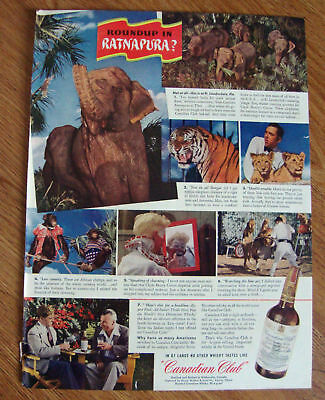 1943 Canadian Club Whiskey Ad Ft Lauderedale Jungle Zoo
