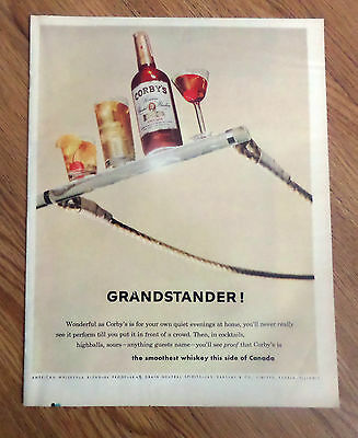 1961 Corby's Whiskey Ad  Grandstander
