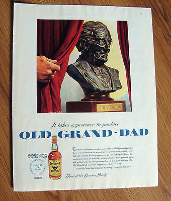 1950 Old Grand-Dad Whiskey Ad