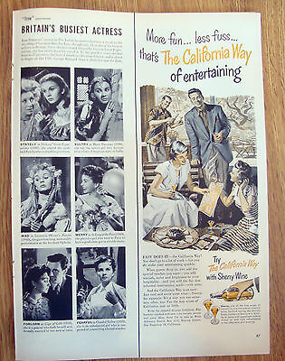 1950 The California Way with Sherry Wine Ad Entertaining