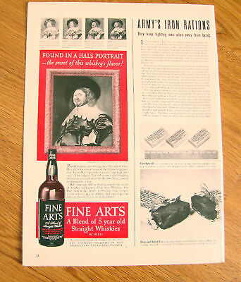 1942 Fine Arts Straight Whiskey Ad