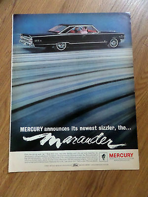 1963 Mercury Ad  Announces its newest Sizzler the Marauder