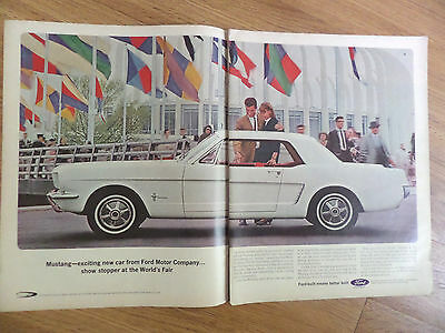 1964 Ford Mustang Hardtop Ad Show Stopper at the New York World's Fair