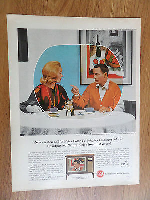 1964 RCA TV Television Ad The Joey Bishop Show Starring Joey Bishop Abby Dalton