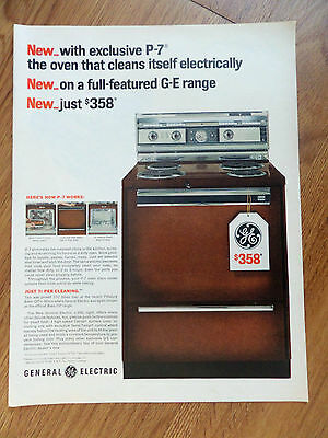 1965 GE General Electric P-7 Oven Range Ad