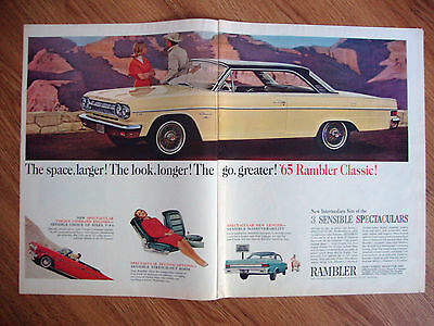 1965 Rambler Classic Ad The Space LARGER The look LONGER the go GREATER