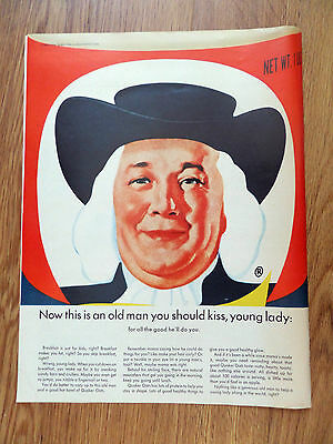 1965 Quaker Oats Cereal Ad Now This is an Old Man you Should Kiss Young Lady