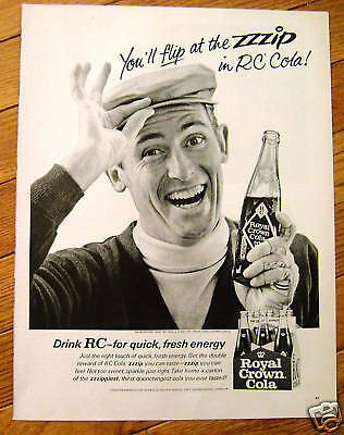 1965 RC Royal Crown Cola Ad  Flip at the ZZZIP
