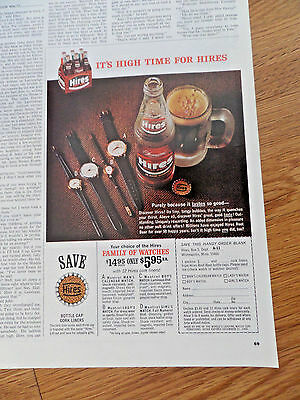 1966 Hires Root Beer Ad Family of Watches