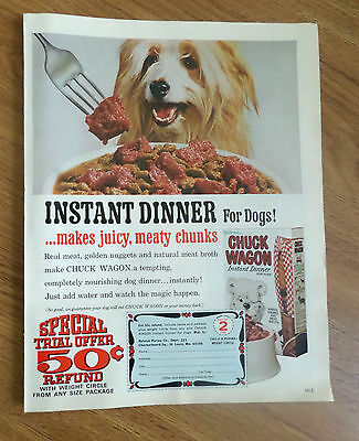 1967 Chuck Wagon Dog Food Ad  Old English Sheep Dog